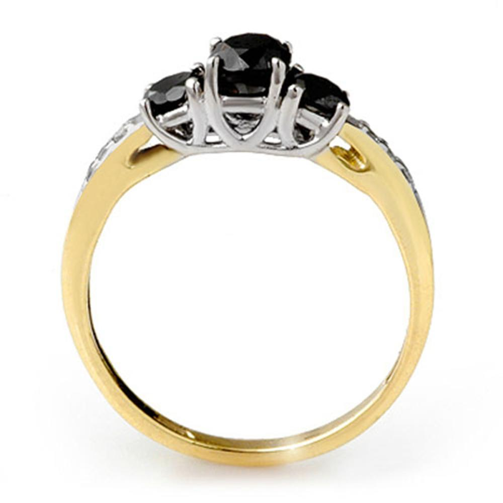 Lot 6926: 1.05 ctw VS Black & White Diamond Ring 14K 2-Tone Gold - REF-43N6A - SKU:11790