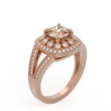 Lot 6934: 2.29 ctw Morganite & Diamond Ring 14K Rose Gold - REF-112V2Y - SKU:44046