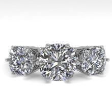 Lot 6928: 2.0 ctw Past Present Future VS/SI Cushion Diamond Ring 18K White Gold - REF-414R2K - SKU:35919