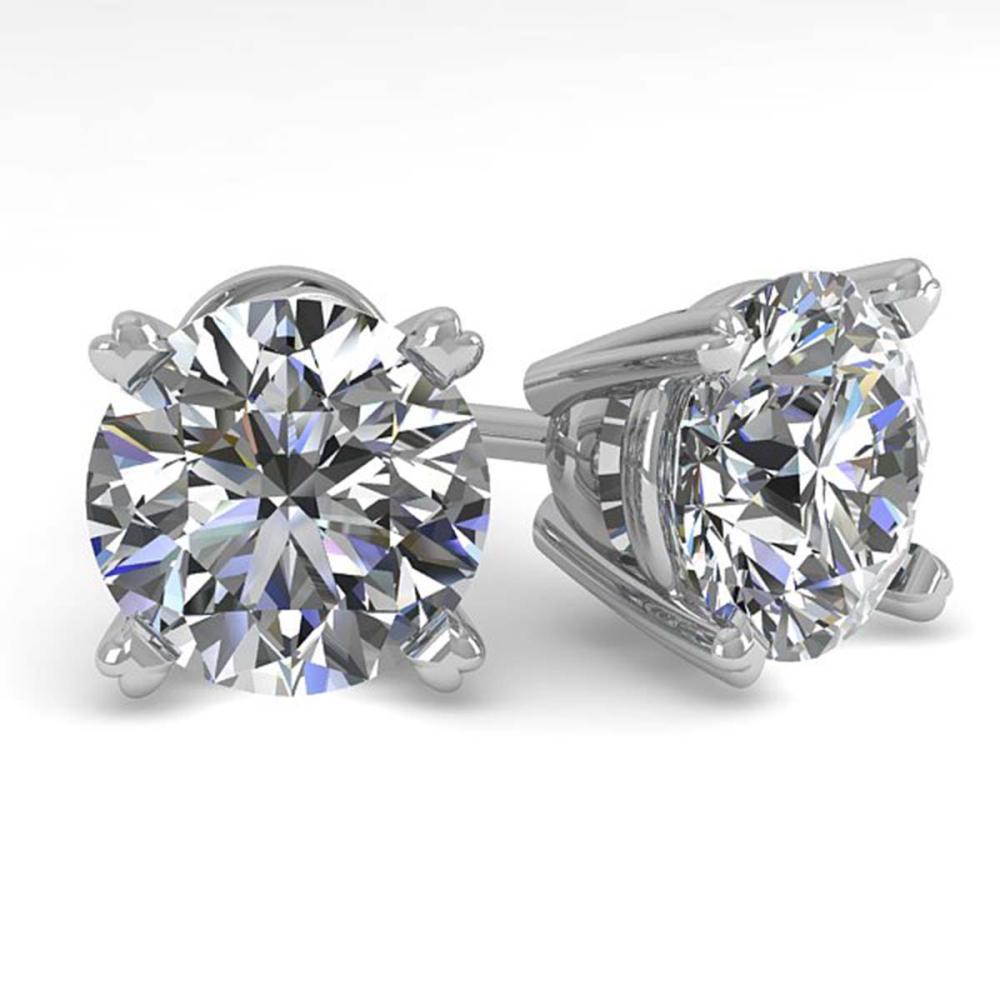 Lot 6951: 2.50 ctw VS/SI Diamond Stud Earrings 18K White Gold - REF-744X5R - SKU:32310