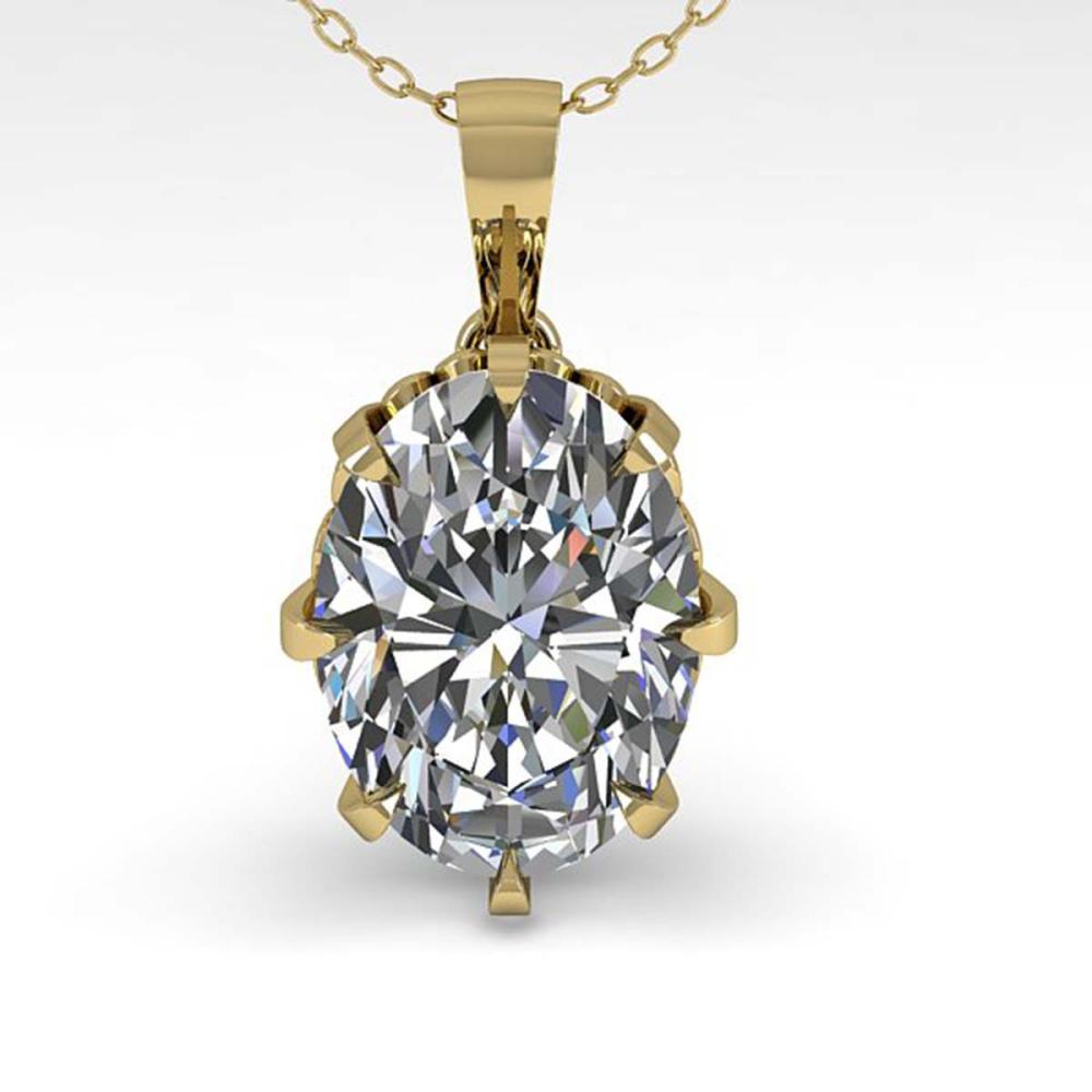 Lot 7057: 1 ctw VS/SI Oval Diamond Necklace 18K Yellow Gold - REF-280N2A - SKU:35716