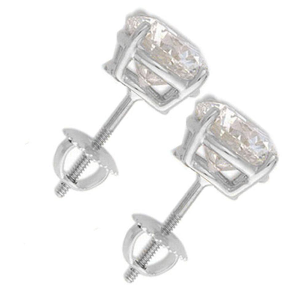Lot 7090: 2.0 ctw VS/SI Diamond Stud Earrings 18K White Gold - REF-528N3A - SKU:13539