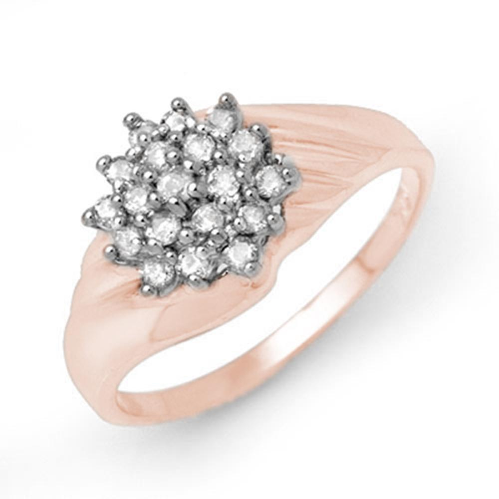 Lot 6886: 0.25 ctw VS/SI Diamond Ring 18K Rose Gold - REF-43H3M - SKU:13850