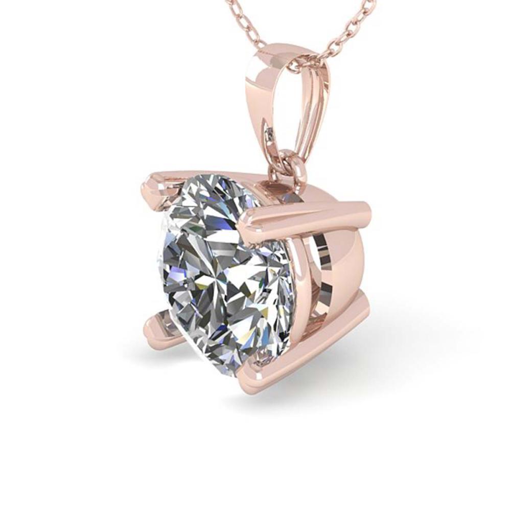 Lot 7072: 1 ctw VS/SI Diamond Necklace 18K Rose Gold - REF-274H5M - SKU:32351