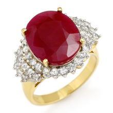 Lot 7004: 8.32 ctw Ruby & Diamond Ring 14K Yellow Gold - REF-170N2A - SKU:12851