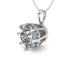 Lot 6922: 2 ctw VS/SI Diamond Solitaire Necklace 14K White Gold - REF-921V6Y - SKU:29583