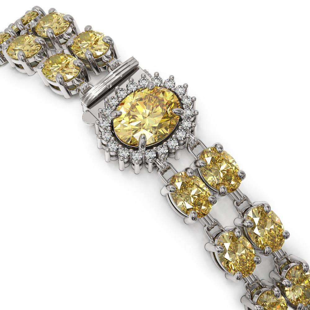Lot 6983: 24.02 ctw Citrine & Diamond Bracelet 14K White Gold - REF-139N8A - SKU:45521