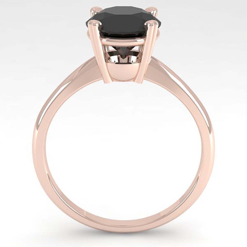 Lot 6019: 2.0 ctw Black Diamond Ring 14K Rose Gold - REF-63R2K - SKU:38475