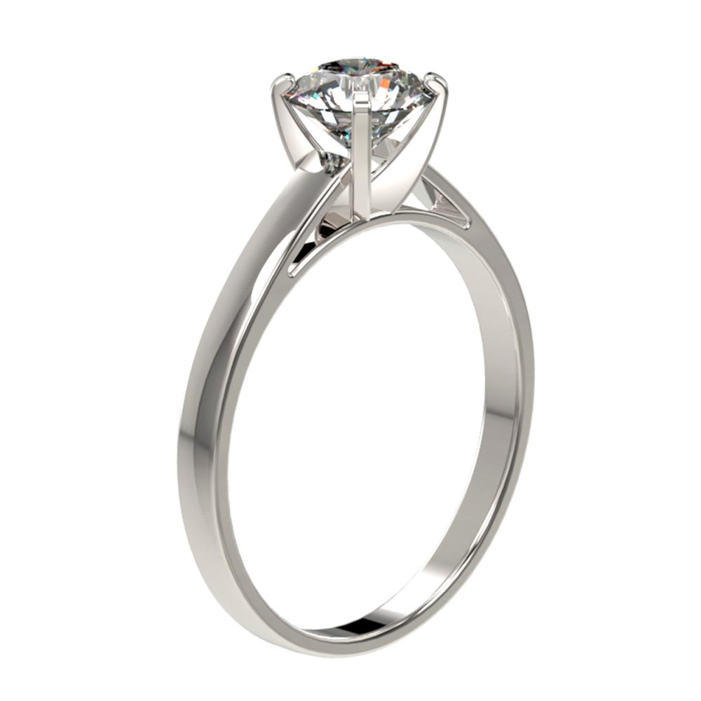 Lot 6037: 0.97 ctw H-SI/I Diamond Ring 10K White Gold - REF-199M5F - SKU:36495