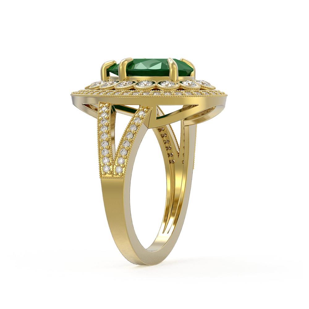 Lot 6051: 5.12 ctw Emerald & Diamond Ring 14K Yellow Gold - REF-156W5H - SKU:43120