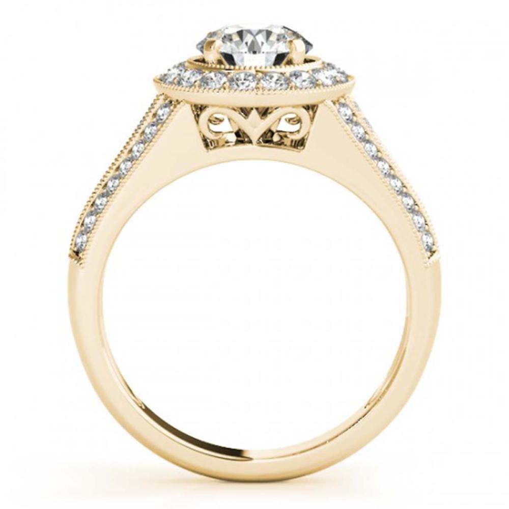 Lot 6040: 1.60 ctw VS/SI Diamond 2pc Wedding Set Halo 14K Yellow Gold - REF-184K3W - SKU:31114