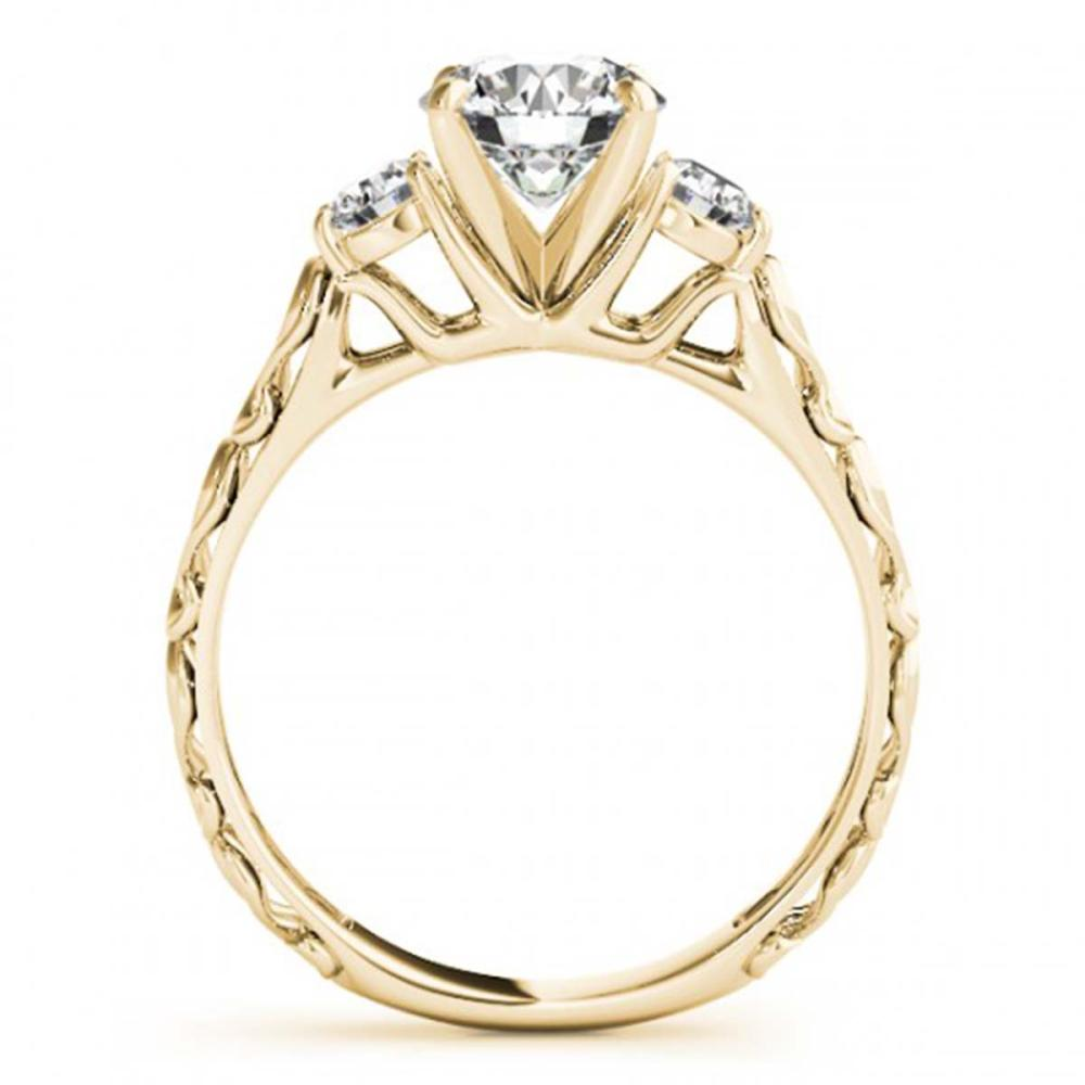 Lot 6081: 1.39 ctw VS/SI Diamond 3 Stone 2pc Wedding Set 14K Yellow Gold - REF-276F2N - SKU:32056