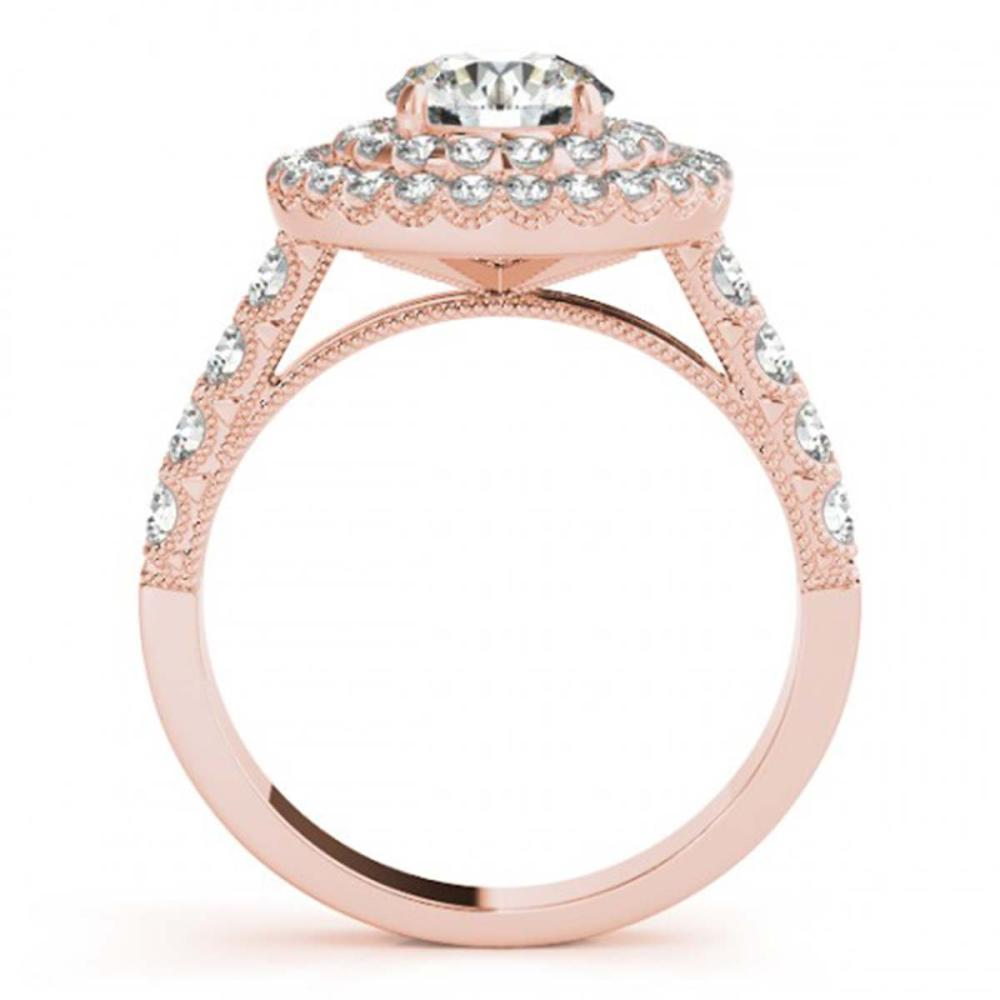 Lot 6107: 2.67 ctw VS/SI Diamond 2pc Wedding Set Halo 14K Rose Gold - REF-343H8M - SKU:31221