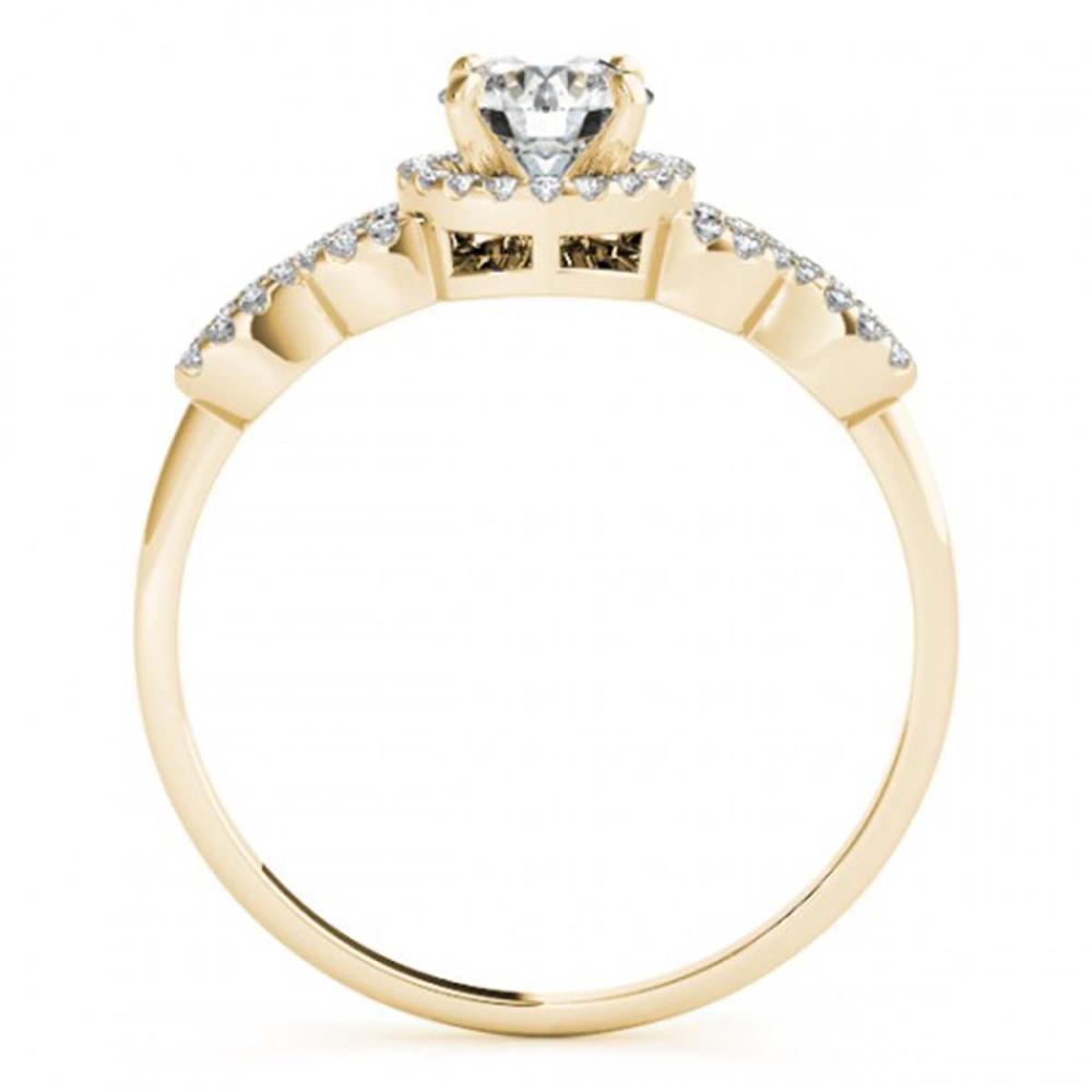 Lot 6146: 1.43 ctw VS/SI Diamond 2pc Wedding Set 14K Yellow Gold - REF-279R3K - SKU:31996