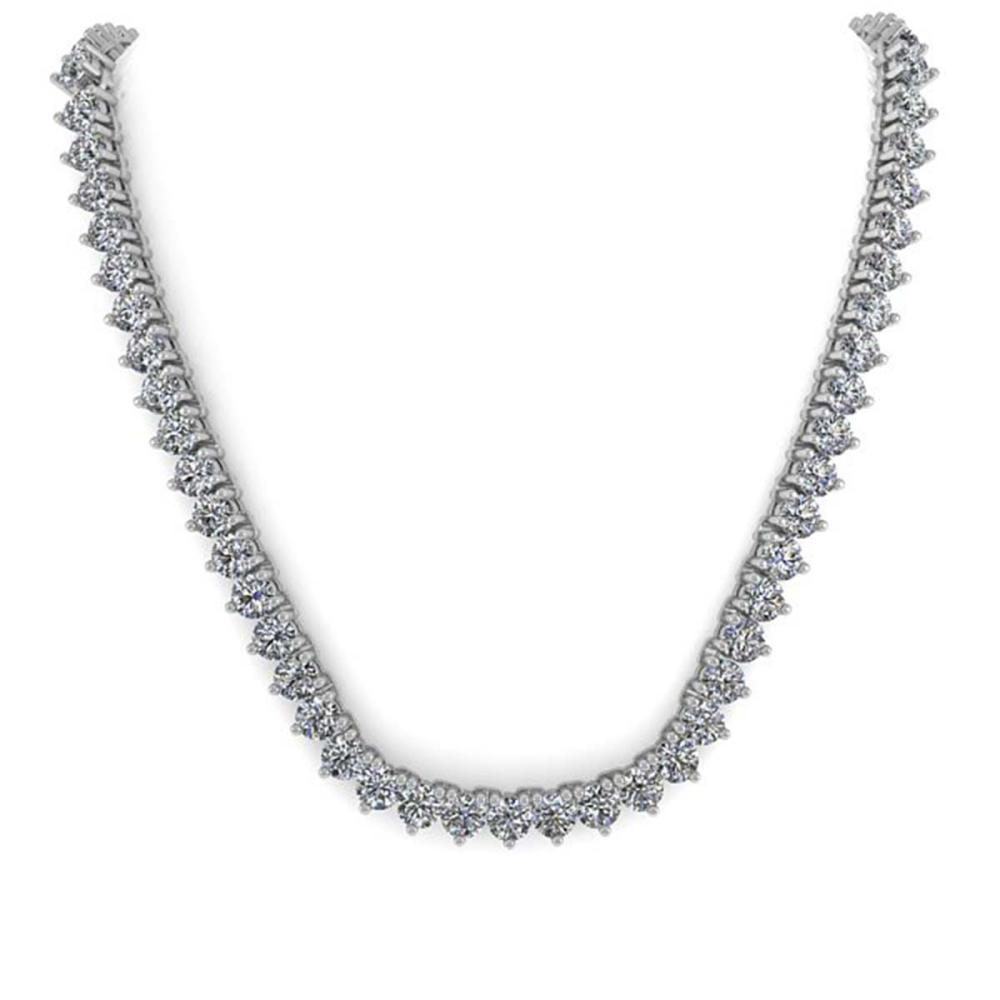 Lot 6127: 80 ctw 3 Prong SI Diamond Necklace 14K White Gold - REF-33450M2F - SKU:35658