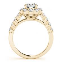 Lot 6172: 3.36 ctw VS/SI Diamond 2pc Wedding Set Halo 14K Yellow Gold - REF-357V5Y - SKU:30824