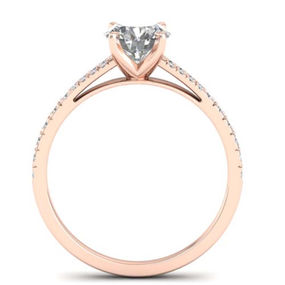 Lot 6214: 1.36 ctw VS/SI Diamond Art Deco Ring 14K Rose Gold - REF-309Y2X - SKU:30376