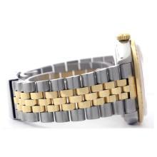 Lot 6021: Rolex Men's Two Tone 14K Gold/SS, QuickSet, Diamond Dial & Diamond Bezel - REF-557Y3X