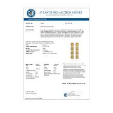 Lot 6006: 11.18 ctw Fancy Citrine & Diamond Halo Earrings 10K Rose Gold - REF-147X5R - SKU:41469