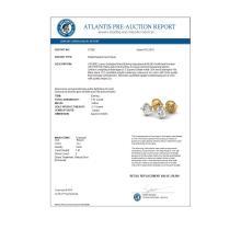 Lot 6026: 1.01 ctw VS/SI Diamond Solitaire Art Deco Stud Earrings 18K Yellow Gold - REF-180M2F - SKU:37300