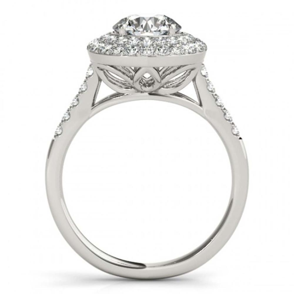 Lot 6274: 1.77 ctw VS/SI Diamond 2pc Wedding Set Halo 14K White Gold - REF-181W2H - SKU:30900