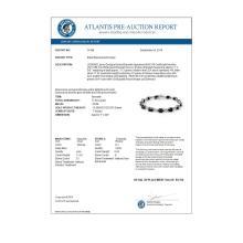 Lot 6028: 11.39 ctw Blue Sapphire & Diamond Bracelet 14K White Gold - REF-135A6V - SKU:14166