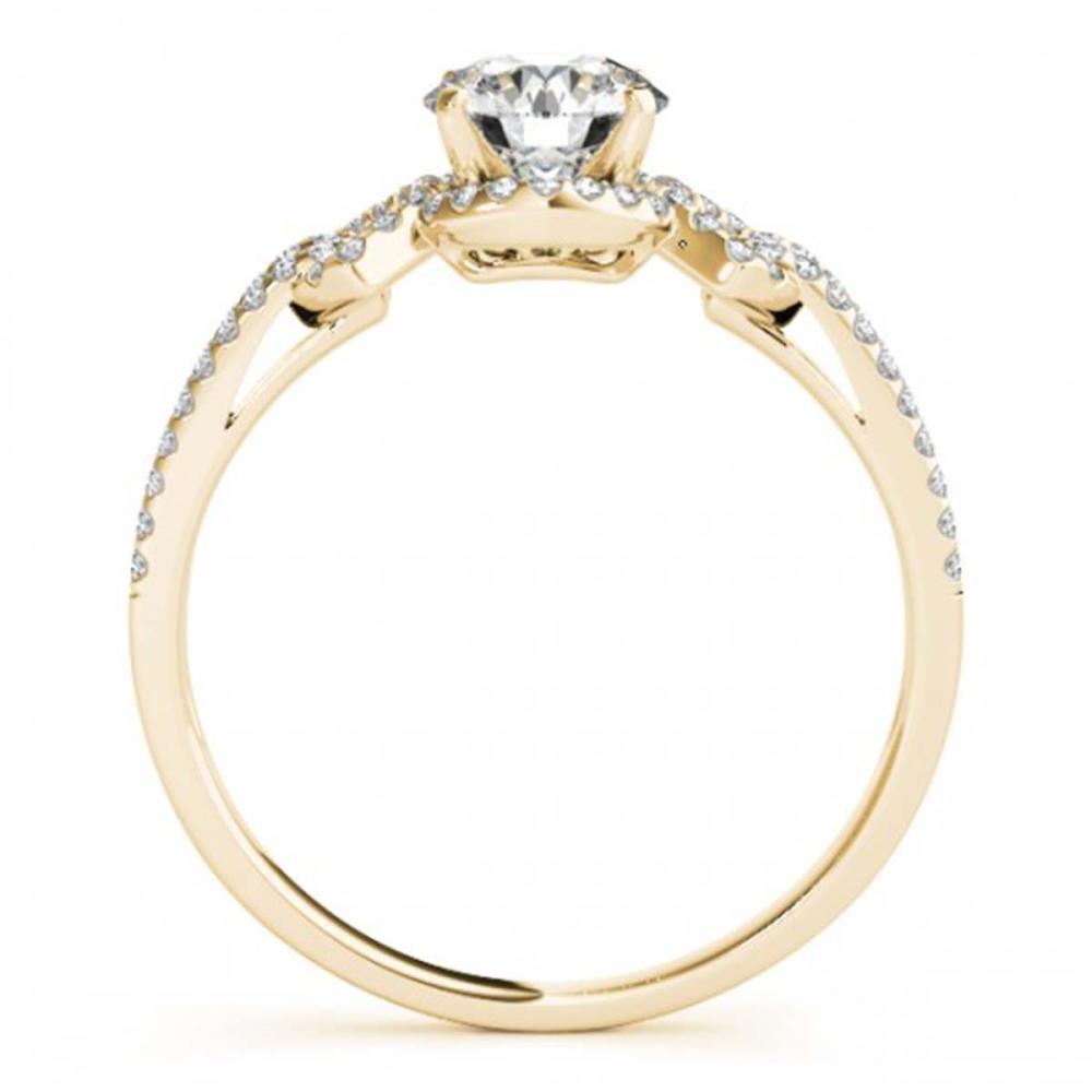 Lot 6290: 1.01 ctw VS/SI Diamond 2pc Wedding Set 14K Yellow Gold - REF-121N4A - SKU:31999