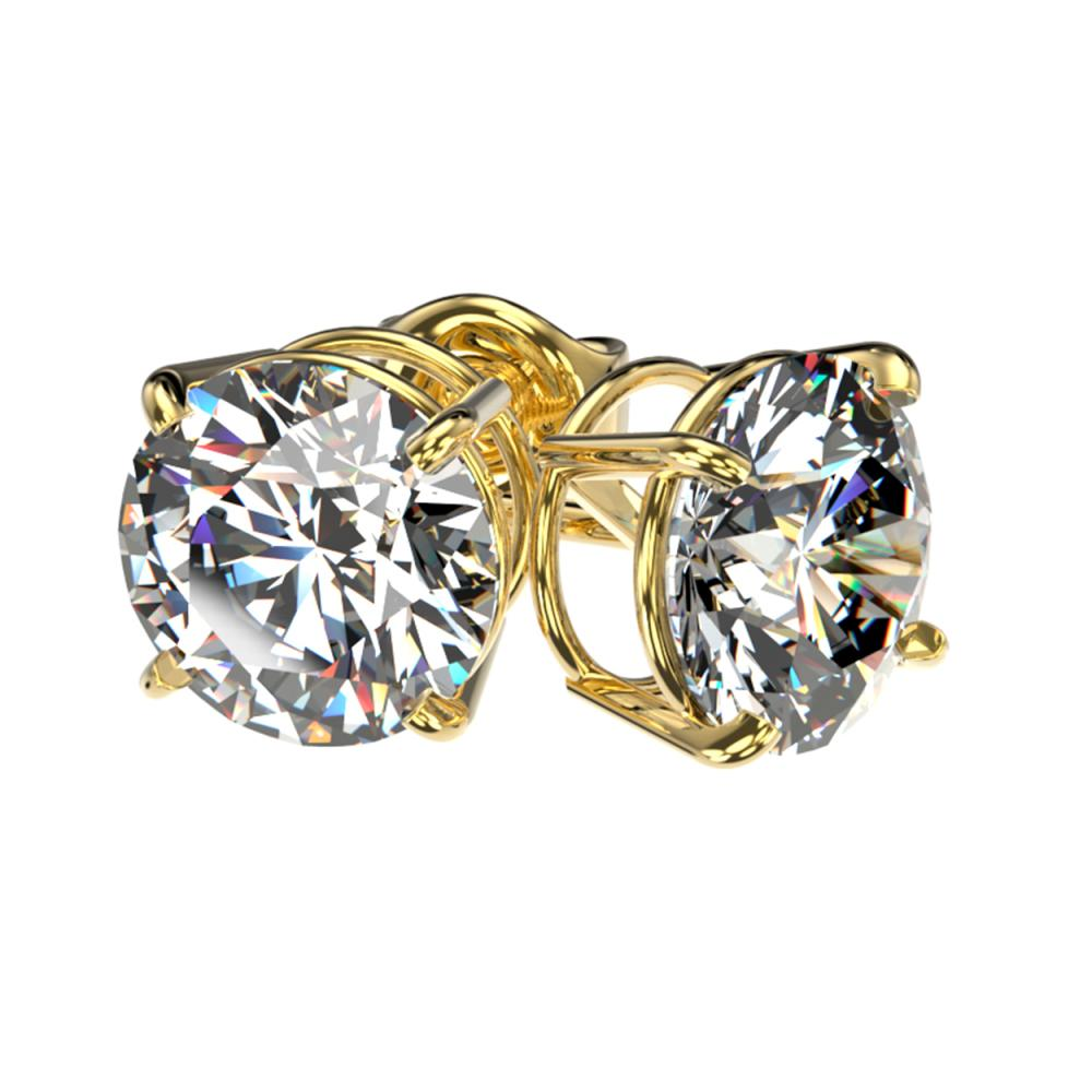 Lot 6299: 2.07 ctw H-SI/I Diamond Stud Earrings 10K Yellow Gold - REF-367N5A - SKU:36639