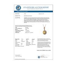 Lot 6068: 7.66 ctw Canary Citrine & Diamond Necklace 14K Rose Gold - REF-161R6K - SKU:43833