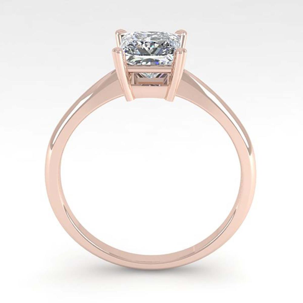 Lot 6331: 1 ctw VS/SI Princess Cut Diamond Ring 18K Rose Gold - REF-285F2N - SKU:32414
