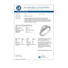 Lot 6124: 1.42 ctw VS/SI Diamond Ring 18K White Gold - REF-198A7V - SKU:11256