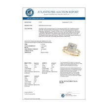 Lot 6134: 1.76 ctw VS/SI Princess Diamond 2pc Set Halo 14K Yellow Gold - REF-333Y2X - SKU:31357