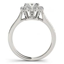 Lot 6458: 1.75 ctw VS/SI Princess Diamond 2pc Set Halo 14K White Gold - REF-341A9V - SKU:31367