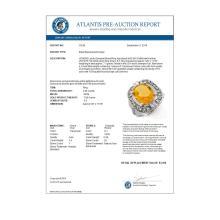 Lot 6157: 4.68 ctw Citrine & Diamond Ring 10K White Gold - REF-50A5V - SKU:10016