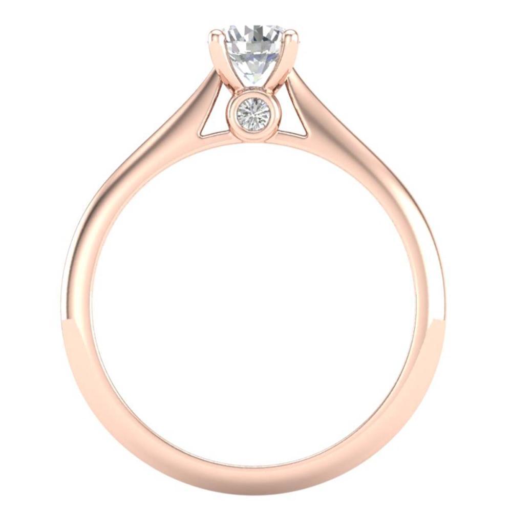 Lot 6467: 0.56 ctw VS/SI Diamond Solitaire Art Deco Ring 18K Rose Gold - REF-106F7N - SKU:37281
