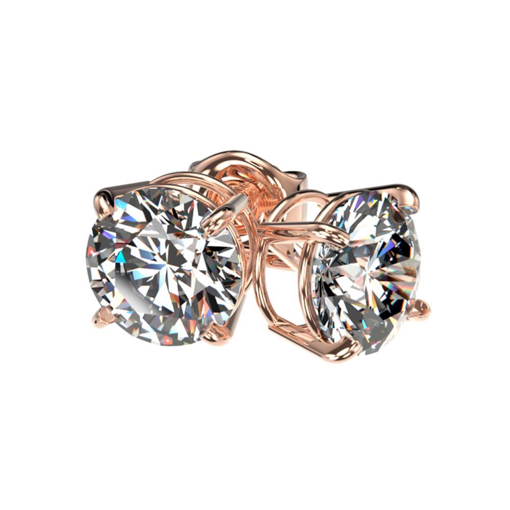 Lot 6466: 1.59 ctw H-SI/I Diamond Stud Earrings 10K Rose Gold - REF-183H2M - SKU:36610