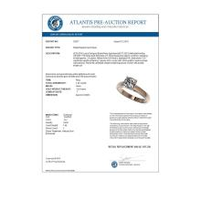 Lot 6194: 1.25 ctw VS/SI Cushion Cut Diamond Ring 10K Rose Gold - REF-372F3N - SKU:33017