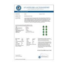 Lot 6202: 6.20 ctw Jade & Diamond Halo Earrings 10K White Gold - REF-134A9V - SKU:46054