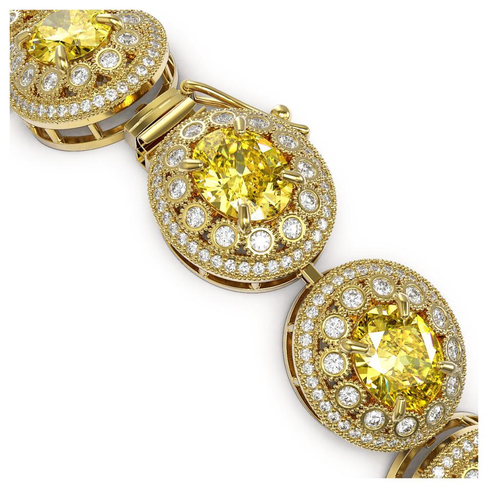 Lot 6515: 40.37 ctw Canary Citrine & Diamond Bracelet 14K Yellow Gold - REF-1186N4A - SKU:43726