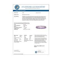 Lot 6229: 19.82 ctw Amethyst & Diamond Halo Bracelet 10K White Gold - REF-270V9Y - SKU:40640