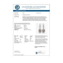 Lot 6237: 7.85 ctw Morganite & Diamond Earrings 14K White Gold - REF-317X5R - SKU:43625