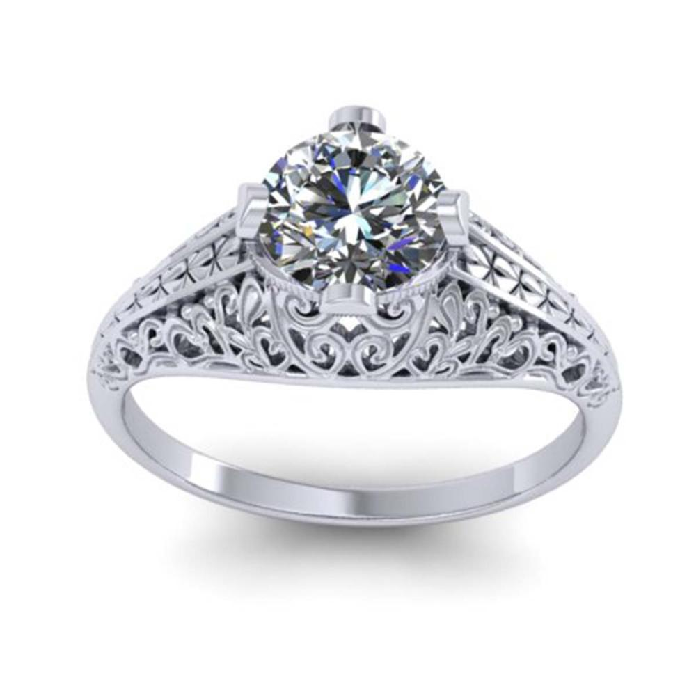Lot 6553: 1 ctw Solitaire VS/SI Diamond Ring 14K White Gold - REF-294N2A - SKU:38523