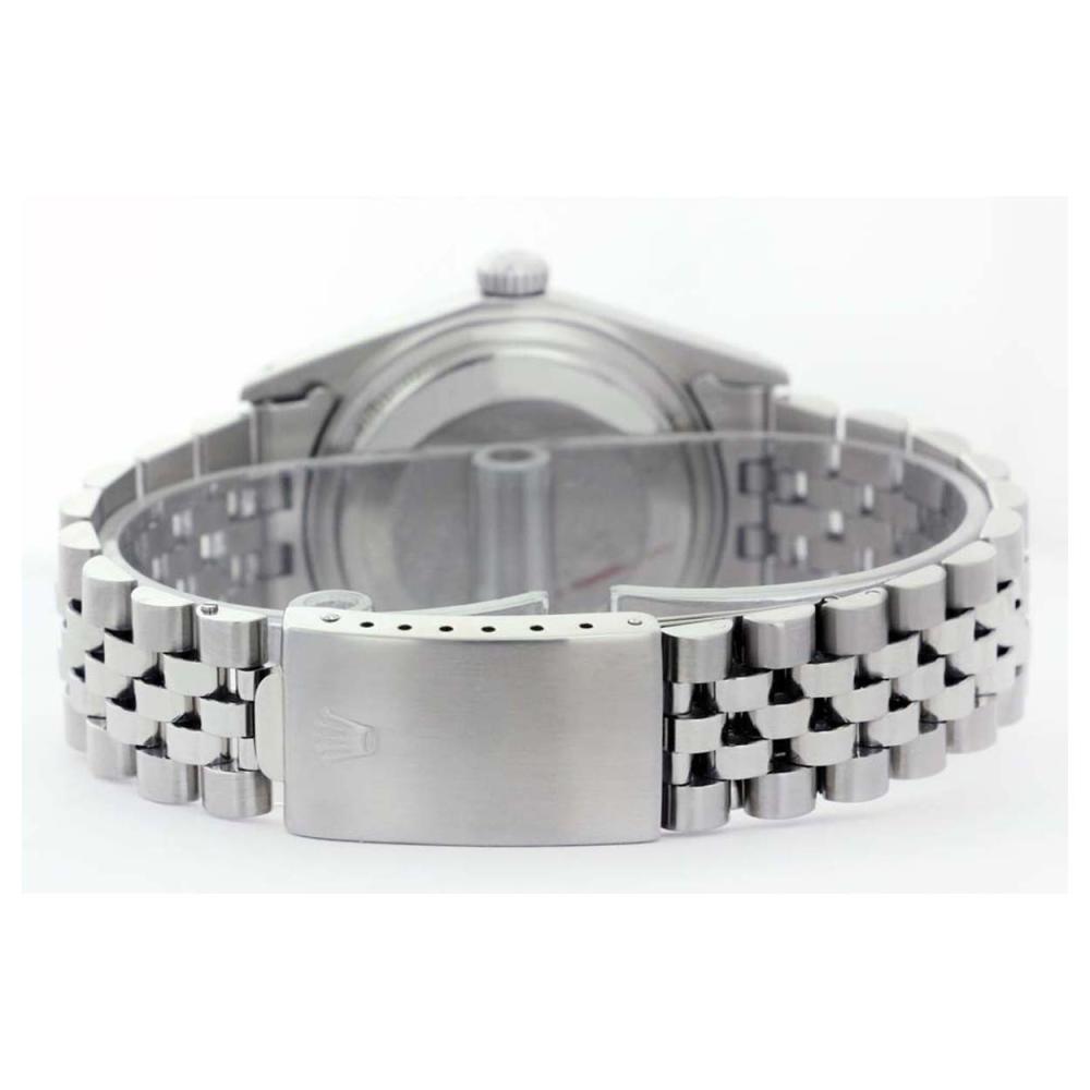 Lot 6656: Rolex Men's Stainless Steel, QuickSet, Diam Dial with Pyrimid Diam Bezel - REF-521W5H