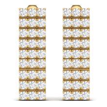 Lot 6643: 4 ctw SI/I Diamond Earrings 18K Yellow Gold - REF-258N8A - SKU:39949