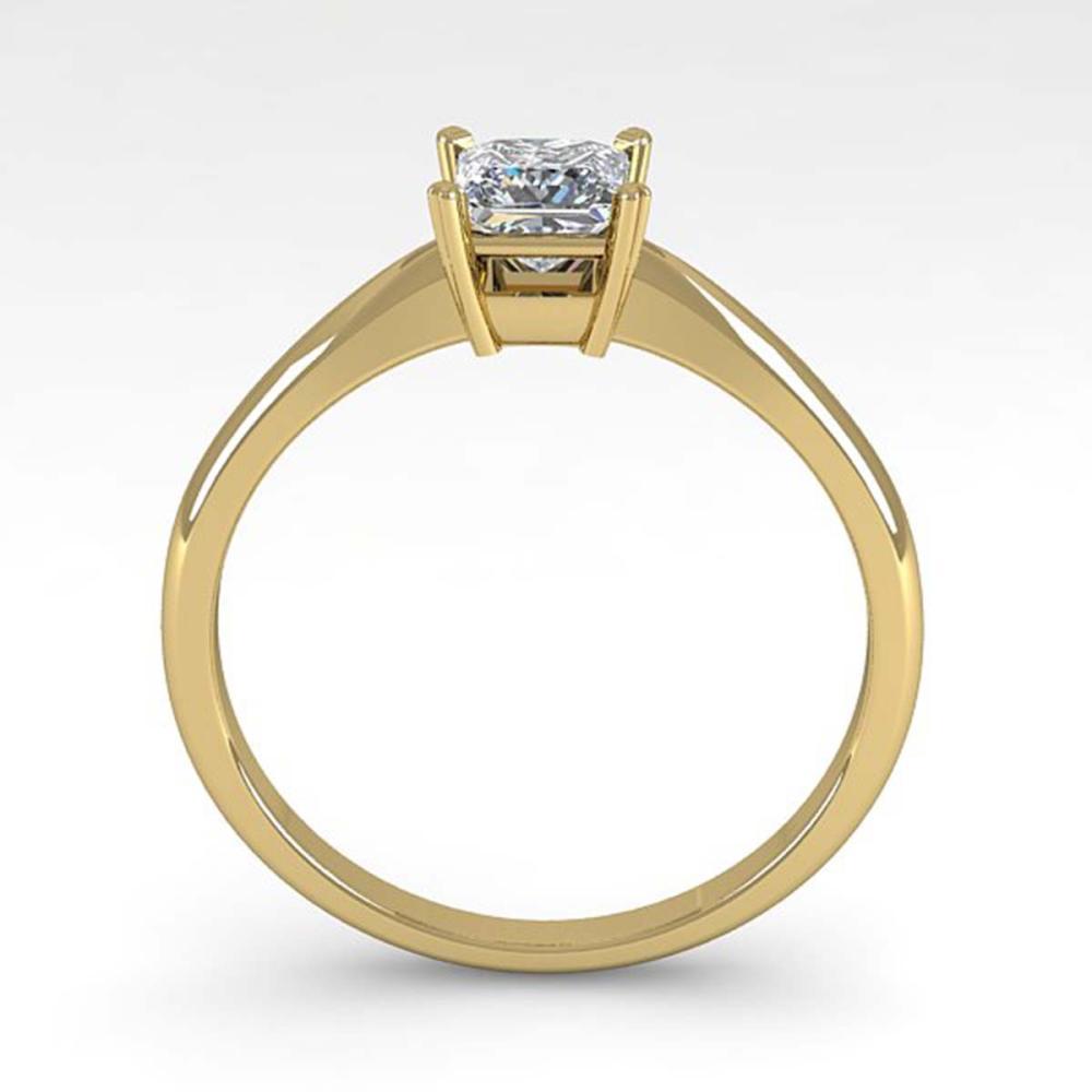 Lot 6686: 0.52 ctw VS/SI Princess Cut Diamond Ring 14K Yellow Gold - REF-84A2V - SKU:32155