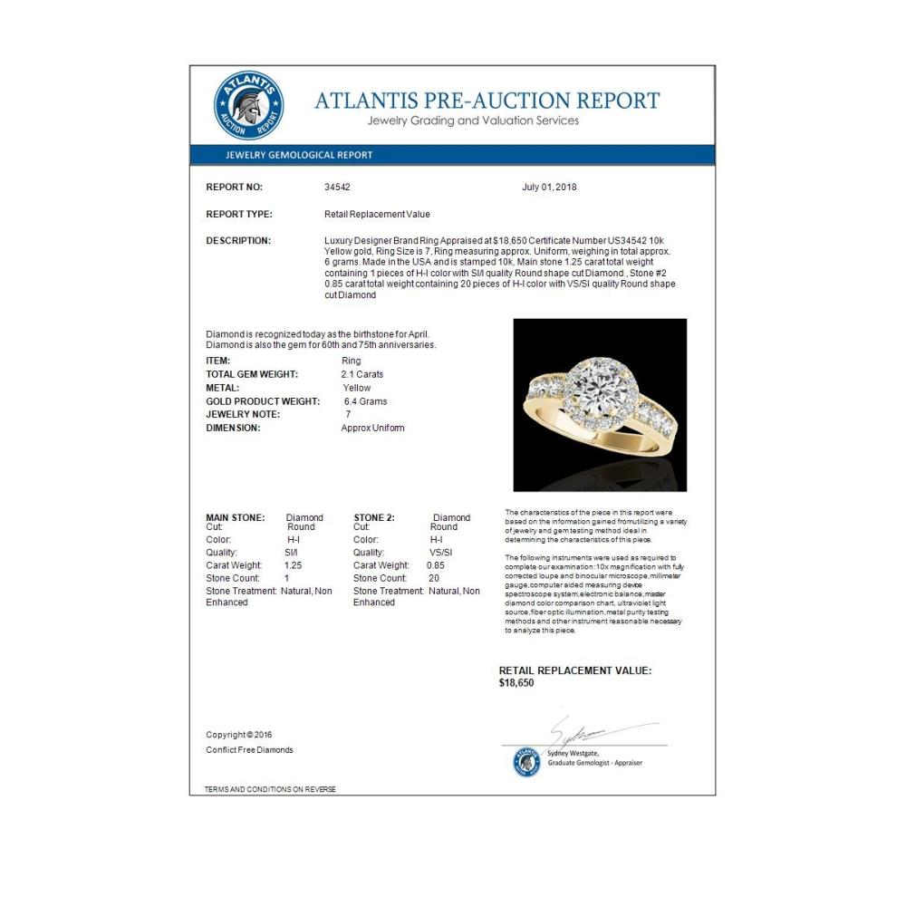 Lot 6313: 1.26 ctw VS/SI Diamond Solitaire 2pc Set 14K White Gold - REF-286N4A - SKU:31593