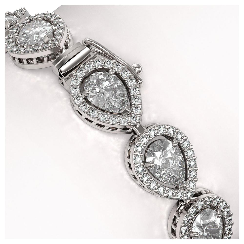 Lot 6709: 14.28 ctw Pear Diamond Bracelet 18K White Gold - REF-1987W8H - SKU:42734