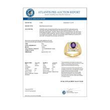 Lot 6348: 3.10 ctw Tanzanite & Diamond Men's Ring 14K Yellow Gold - REF-119K5W - SKU:13480