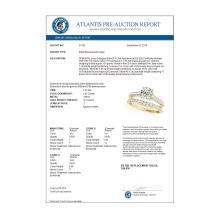 Lot 6369: 1.83 ctw VS/SI Diamond 2pc Wedding Set 14K Yellow Gold - REF-327W3H - SKU:31705