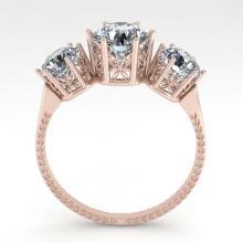 Lot 6773: 2 ctw Past Present Future VS/SI Diamond Ring 18K Rose Gold - REF-414Y2X - SKU:35909